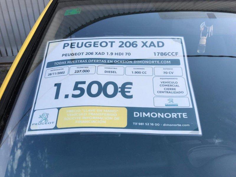 Peugeot 206 1.9D XAD