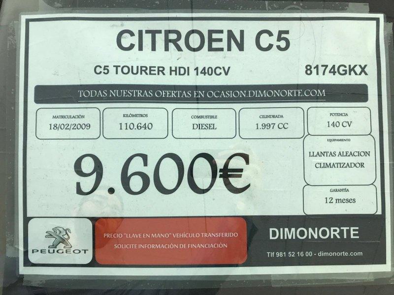 Citroen C5 2.0 HDi Break SX